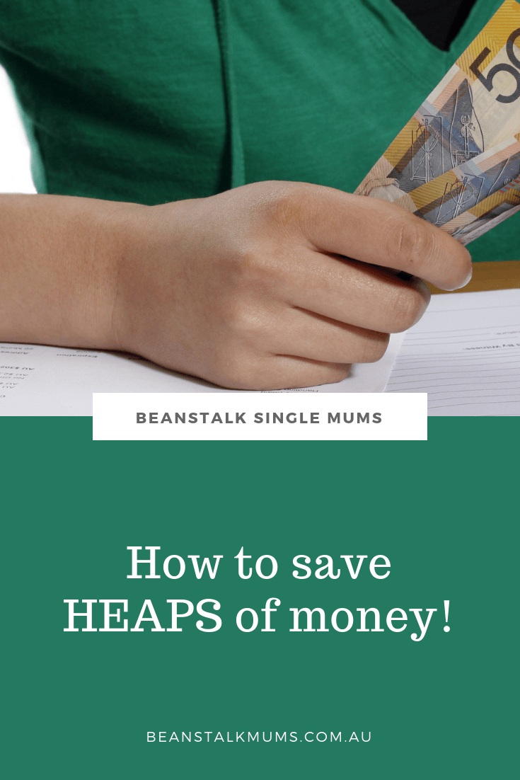 Money saving tips for single mum | Beanstalk Mums Pinterest