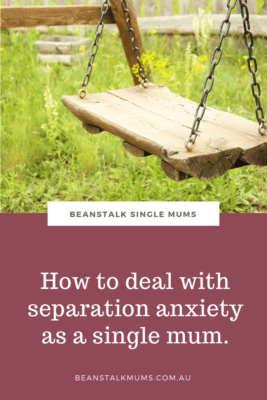 Single mother separation anxiety Pinterest