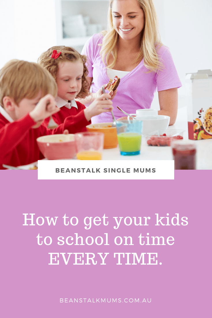 How to get your kids to school on time | Beanstalk Single Mums Pinterest