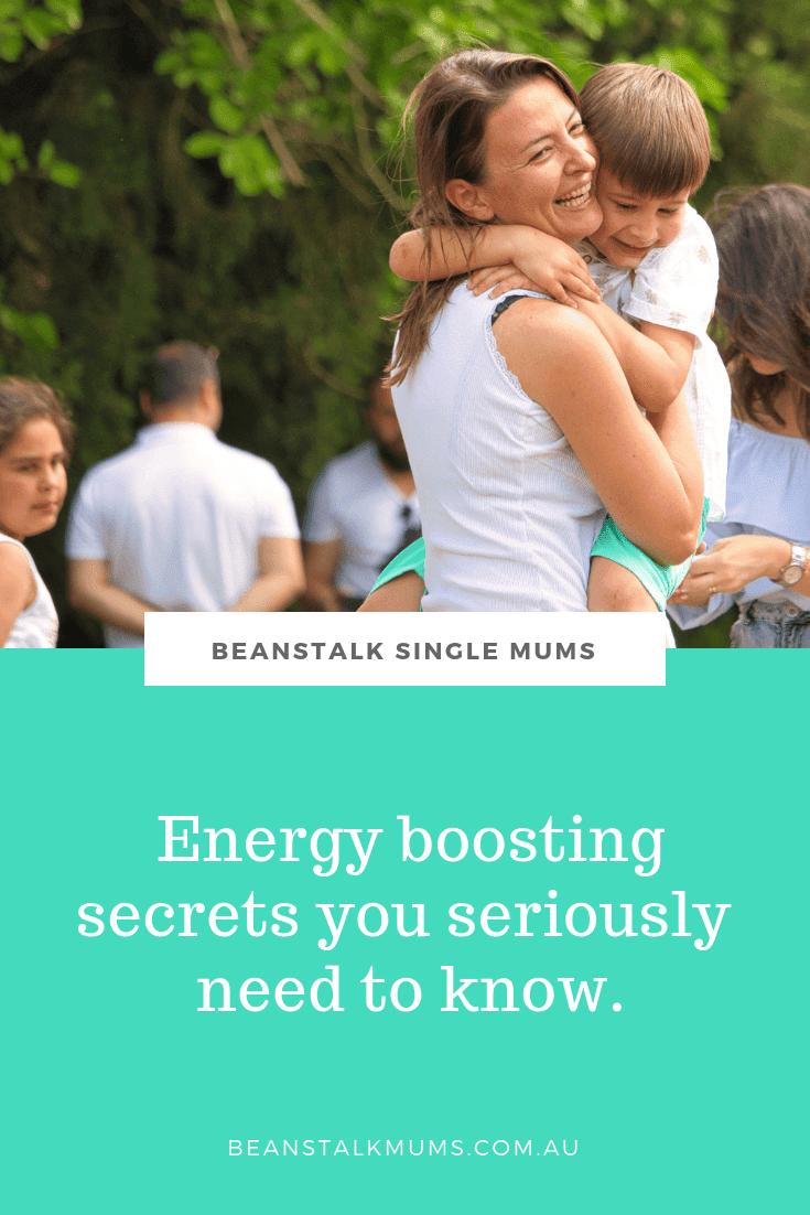 Energy boosting secrets for tired Mums   Beanstalk Single Mums Pinterest