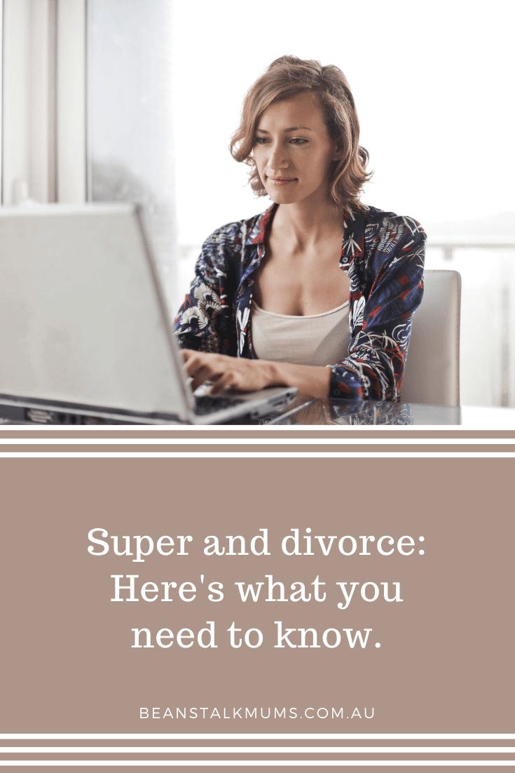 Super and divorce   Beanstalk Single Mums Pinterest