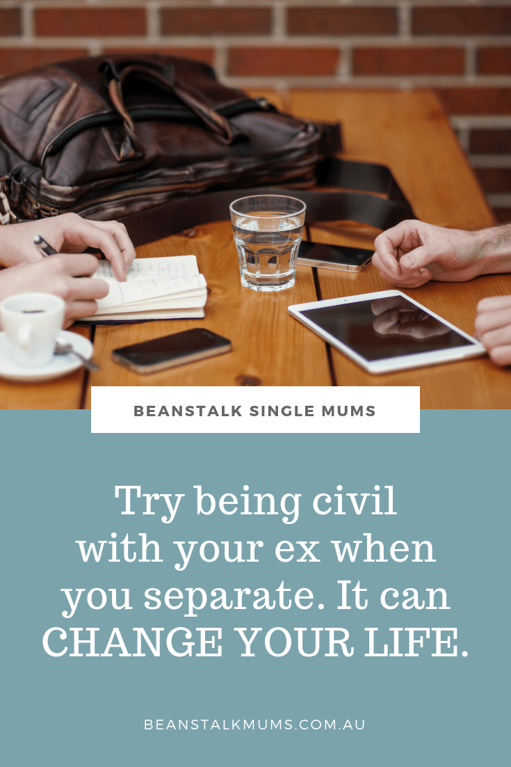 Why being civil with your ex during separation can change your life | Beanstalk Single Mums Pinterest