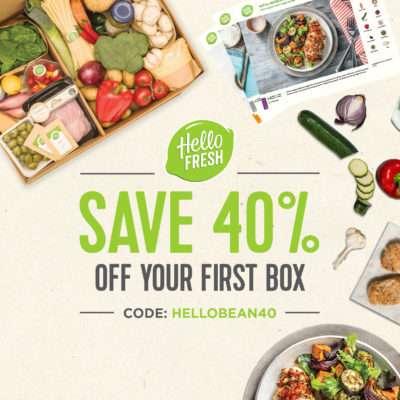 Hello Fresh 40% discount | Beanstalk Mums