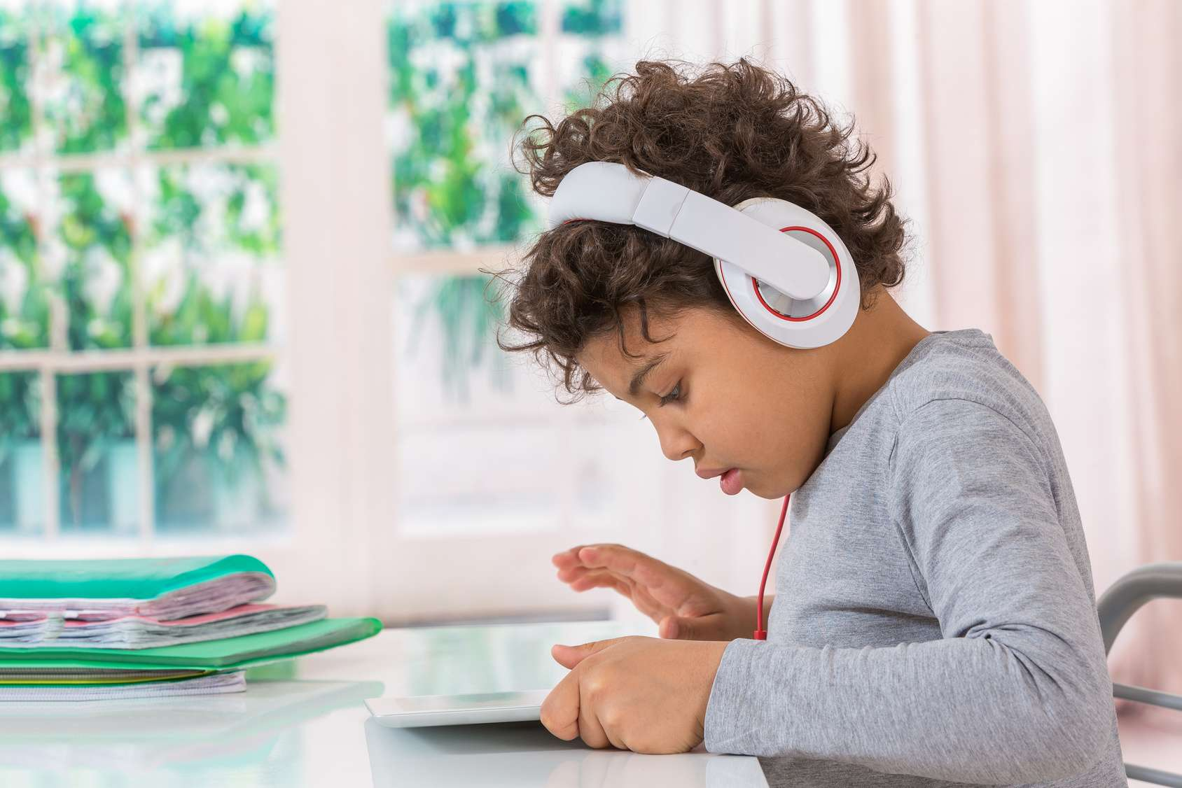 Child having screen time