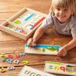 Rainbow Fun wooden alphabet
