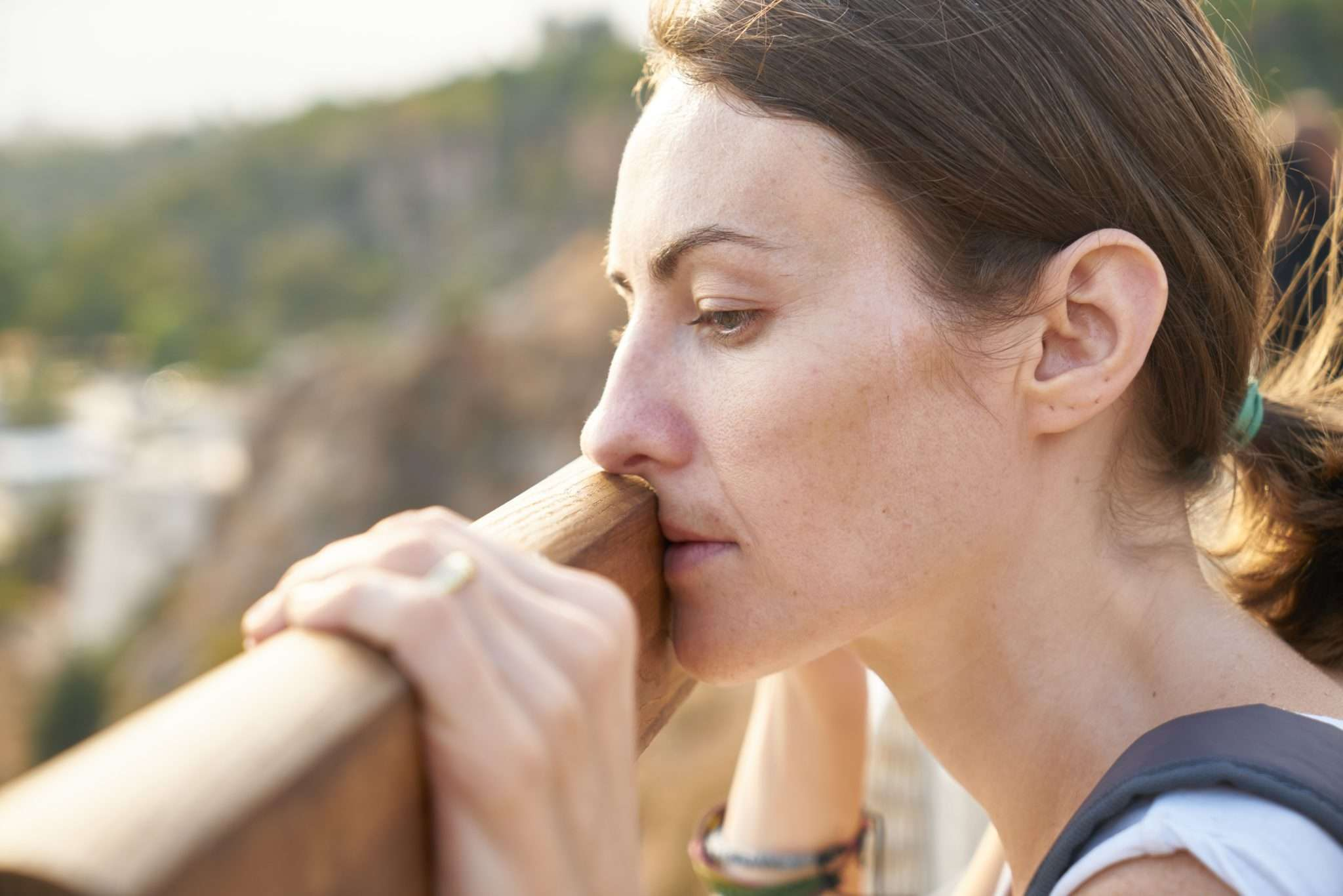 Relieved woman after marriage breakdown