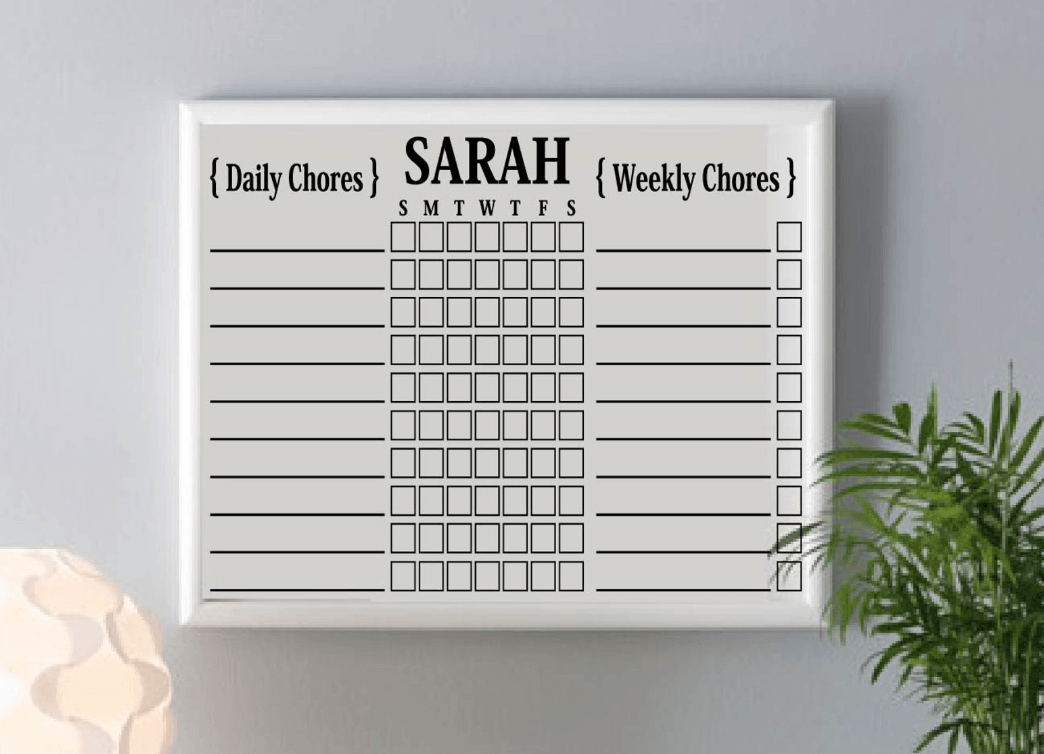 Chore chart for pocket money | Beanstalk Mums