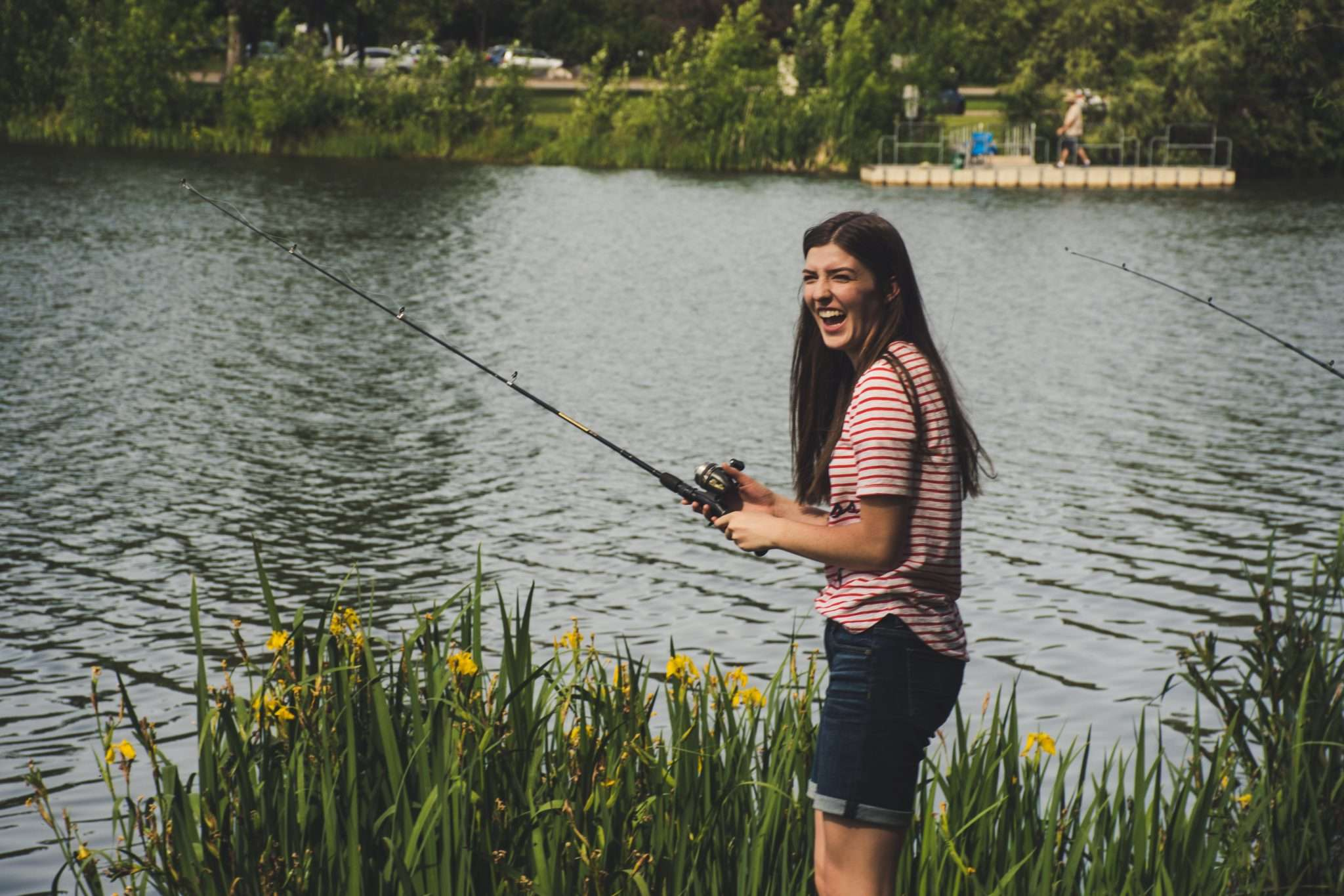 Mum going fishing for self care