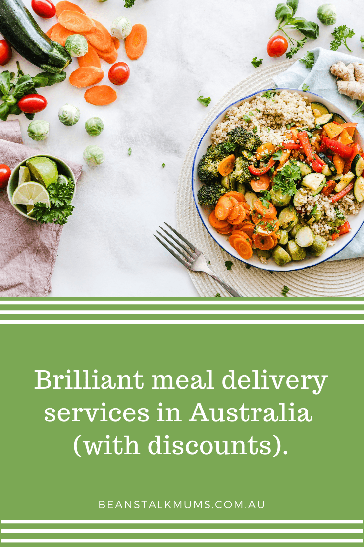 Meal delivery services in Australia (with discounts) | Beanstalk Single Mums Pinterest