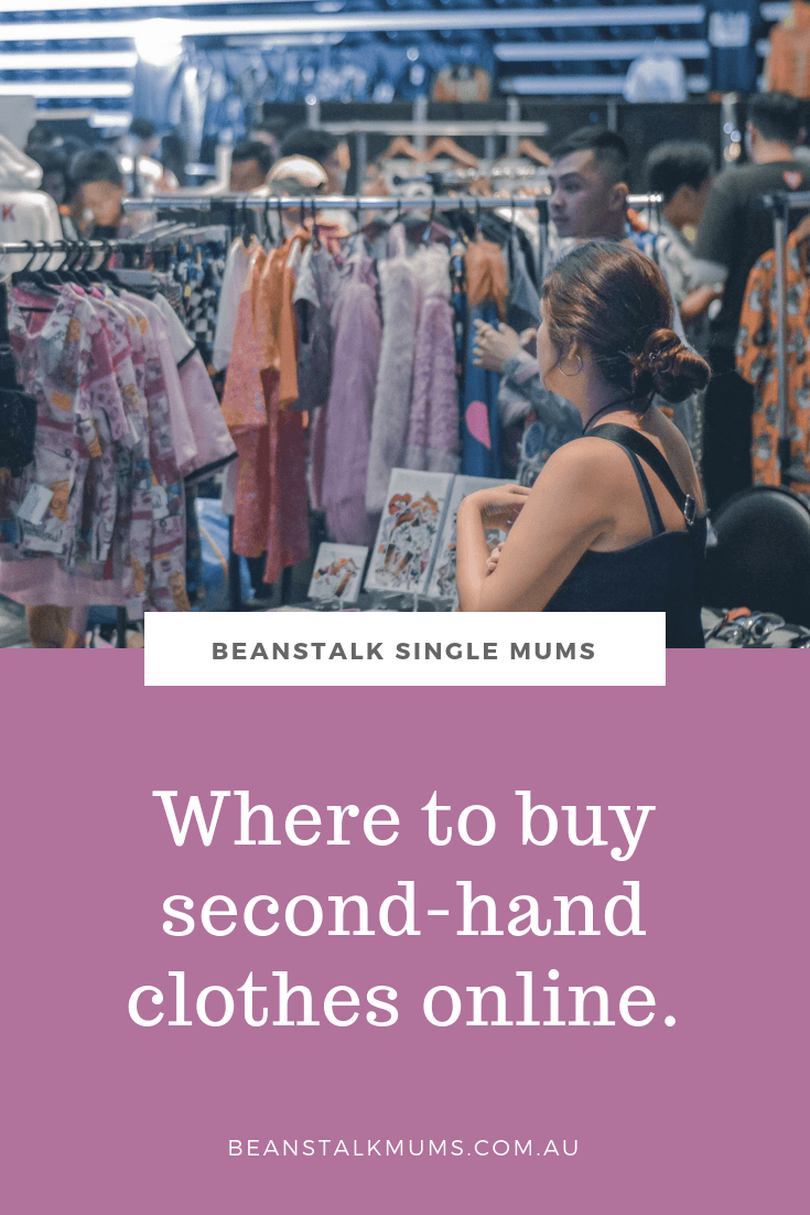 Where to buy second-hand clothes online in Australia | Beanstalk Mums Pinterest