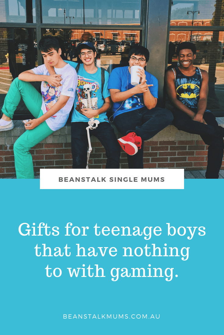 24 Gifts for teenage boys that have nothing to with gaming | Beanstalk Single Mums Pinterest
