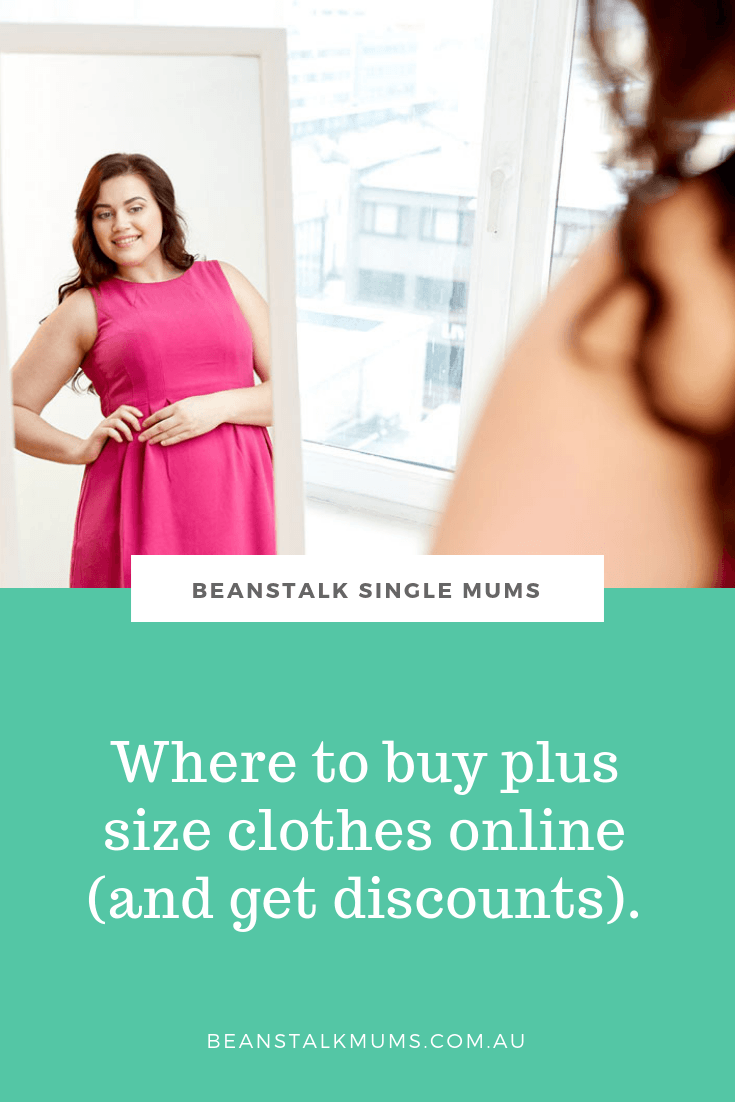 Where to buy plus size clothes online (and get discounts) | Beanstalk Single Mums Pinterest