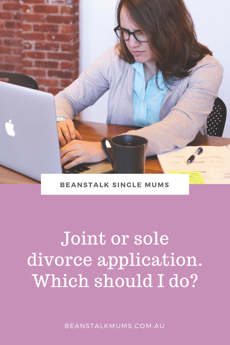 What is the difference between a joint and sole application for divorce? | Beanstalk Single Mums Pinterest