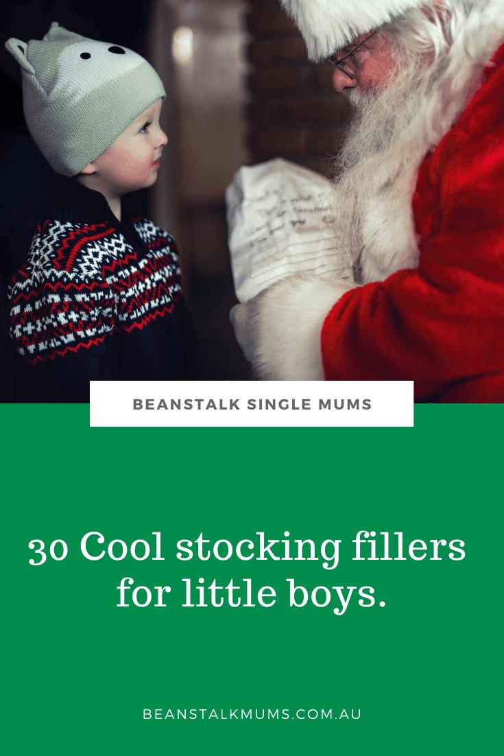 30 Cool stocking fillers for little boys | Beanstalk Single Mums Pinterest