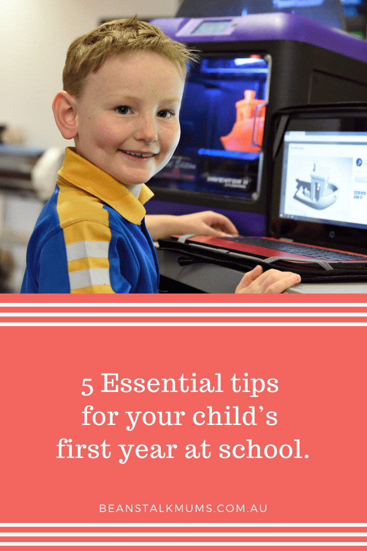 Essential tips for your child's first year at school | Beanstalk Single Mums Pinterest