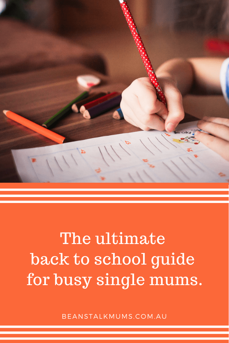 back to school guide for busy single mums | Beanstalk Single Mums Pinterest