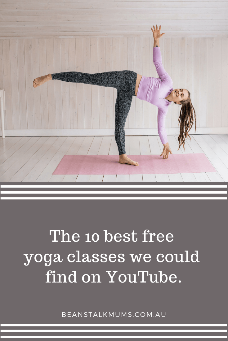 The 10 best free yoga classes we could find on YouTube | Beanstalk Single Mums Pinterest