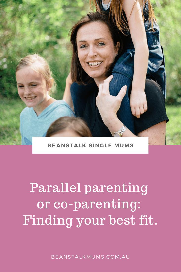 Parallel parenting or co-parenting | Beanstalk Single Mums Pinterest