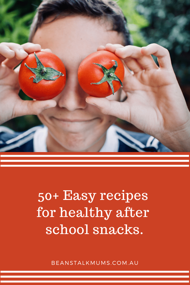 50+ Easy recipes for healthy after school snacks | Beanstalk Single Mums Pinterest
