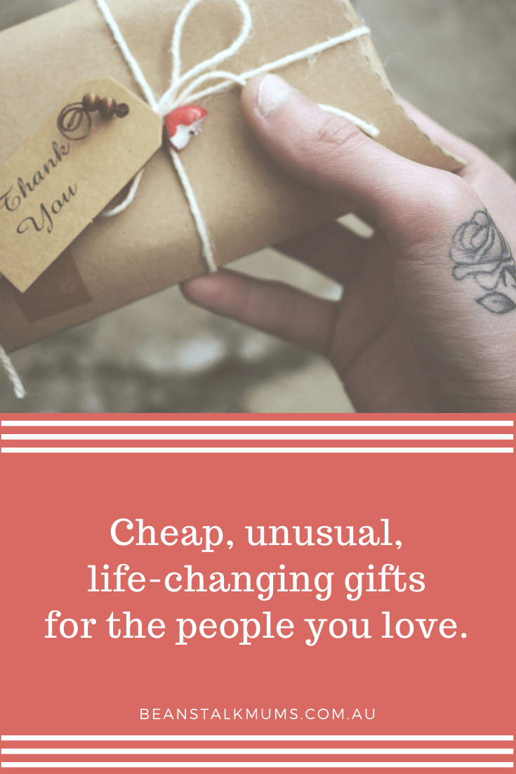 Cheap, unusual, life-changing gifts   Beanstalk Single Mums Podcast