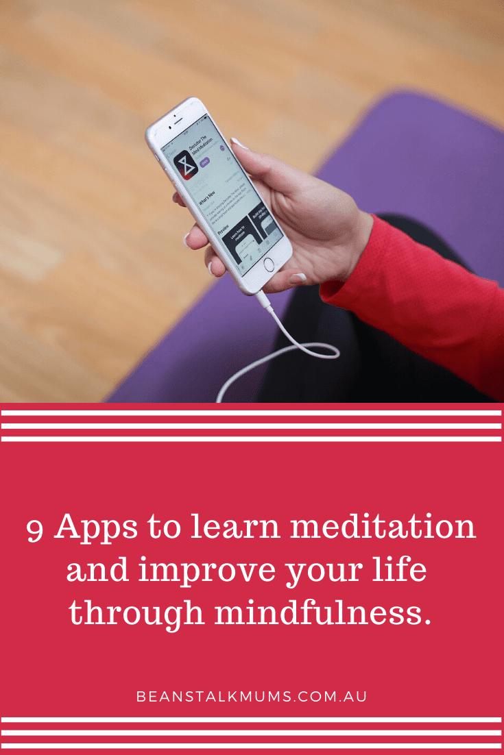 9 Apps to learn meditation | Beanstalk Single Mums Pinterest