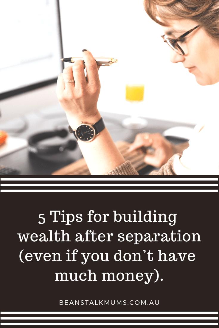 5 Tips for building wealth | Beanstalk Single Mums Pinterest