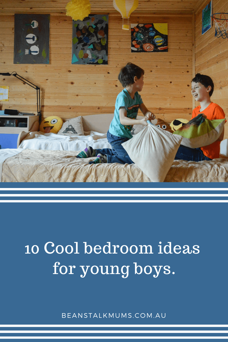10 Cool bedroom ideas for young boys   Beanstalk Single Mums Pinterest