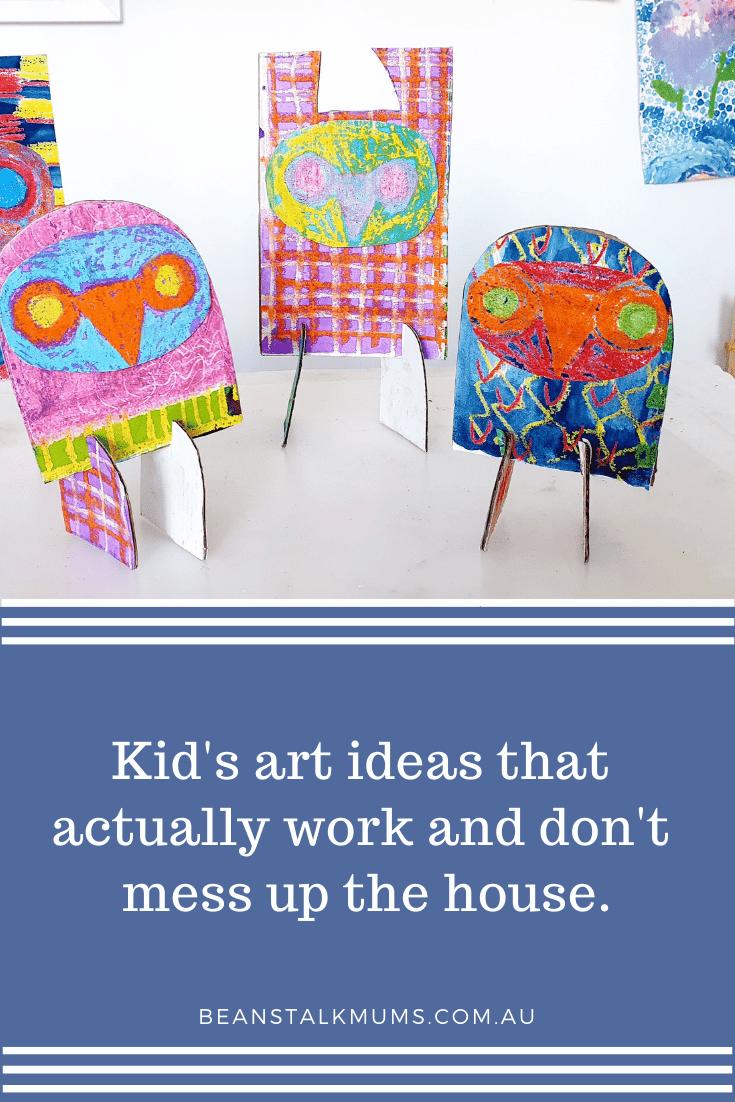 Kid's art ideas | Beanstalk Single Mums Pinterest