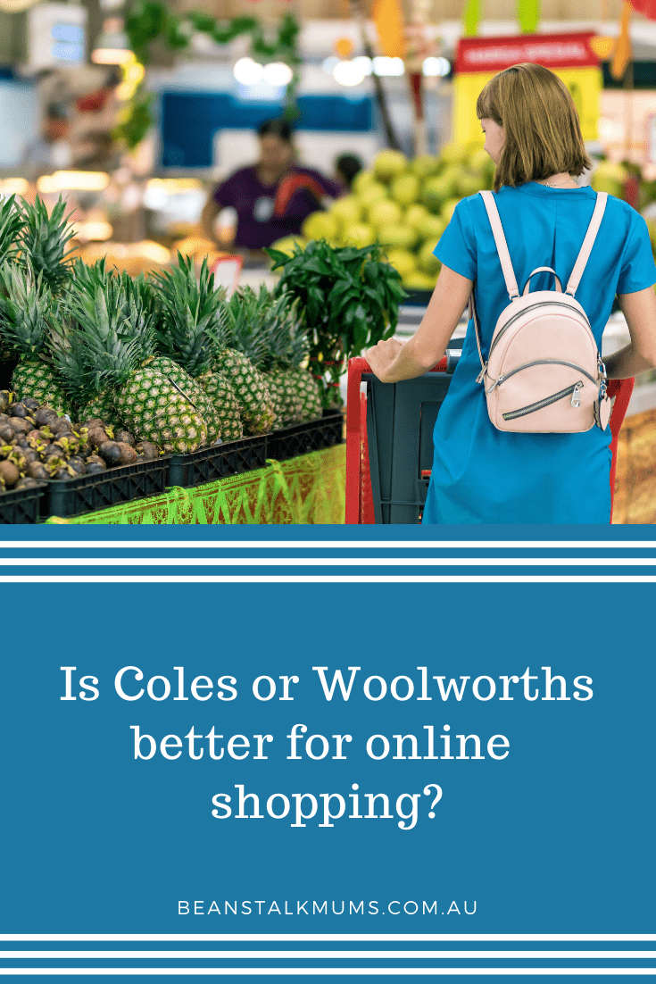 Woolworths or Coles online shopping | Beanstalk Single Mums Pinterest