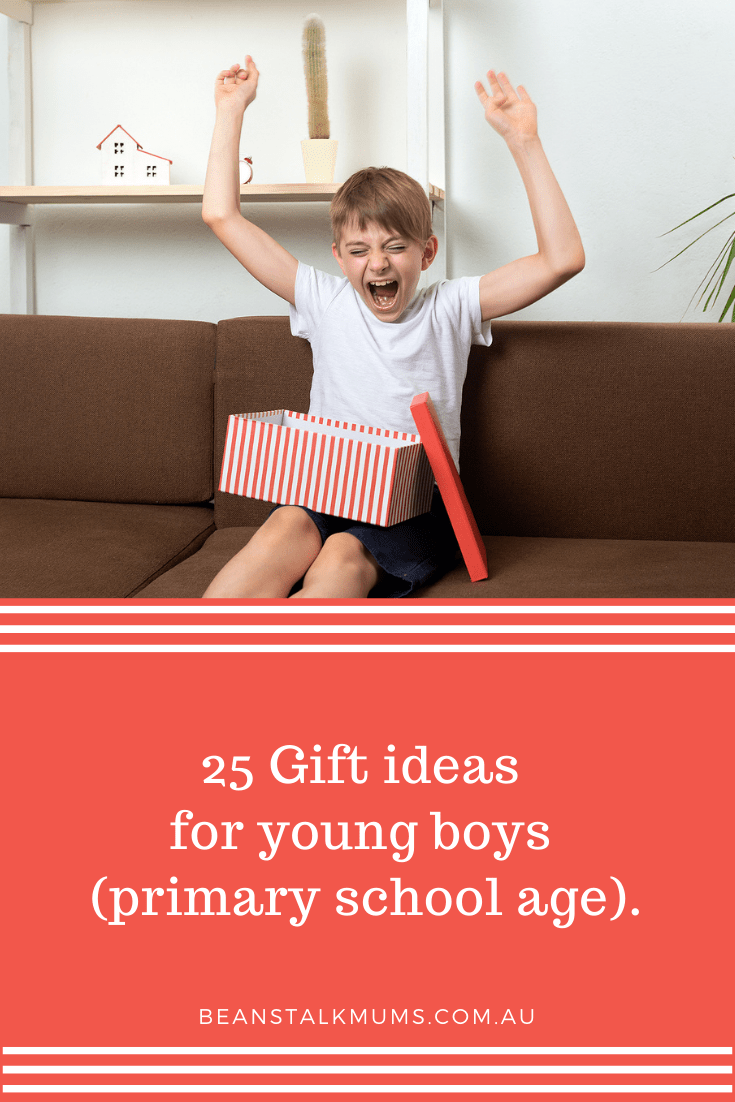 25 Gift ideas for young boys | Beanstalk Single Mums Pinterest