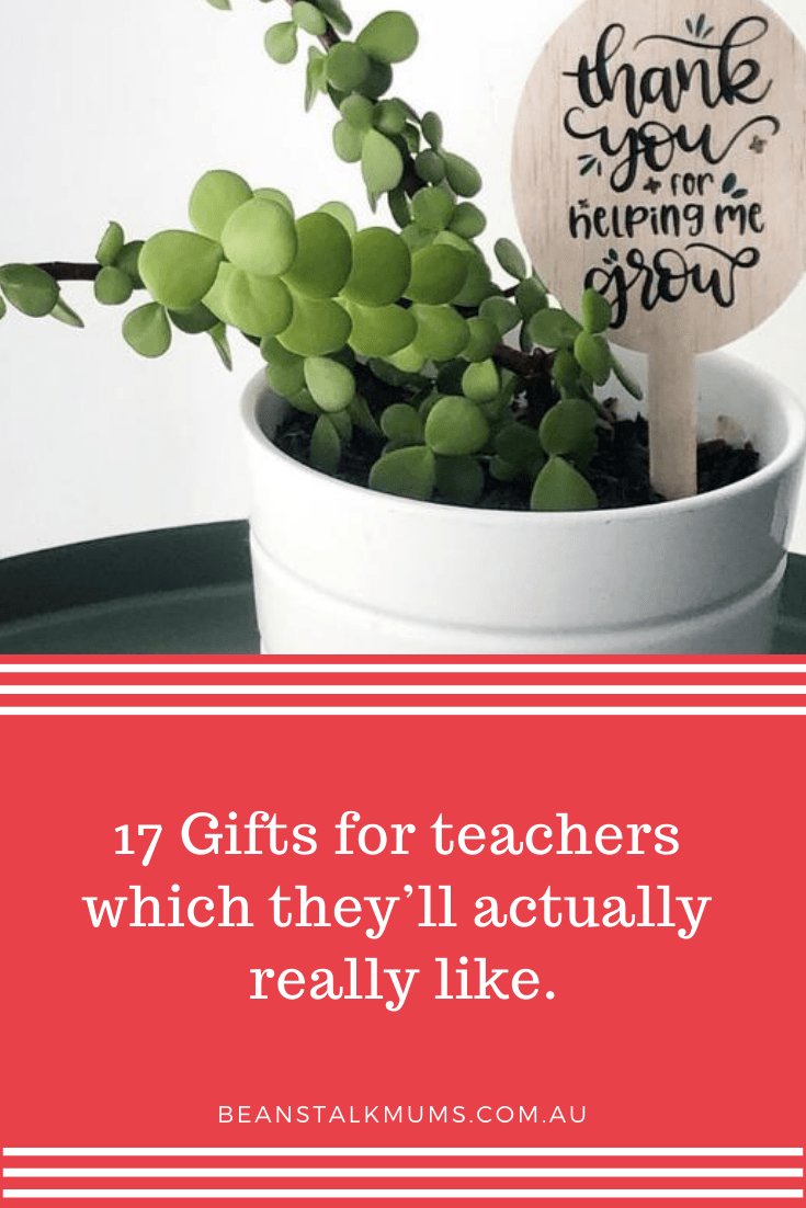 Gifts for teachers | Beanstalk Single Mums Pinterest