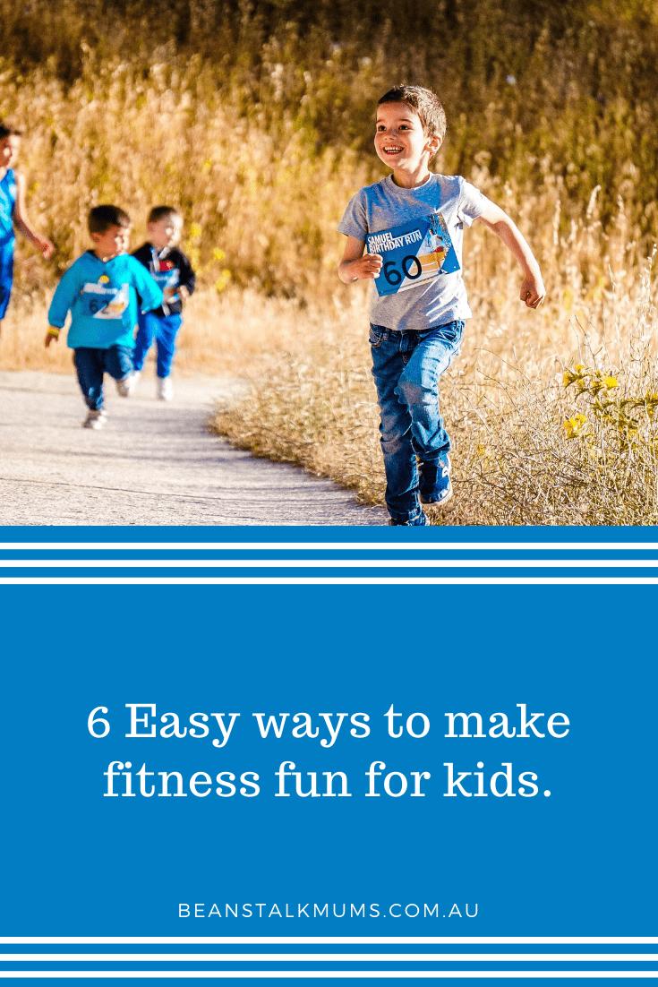 Fitness fun for kids | Beanstalk Single Mums Pinterest