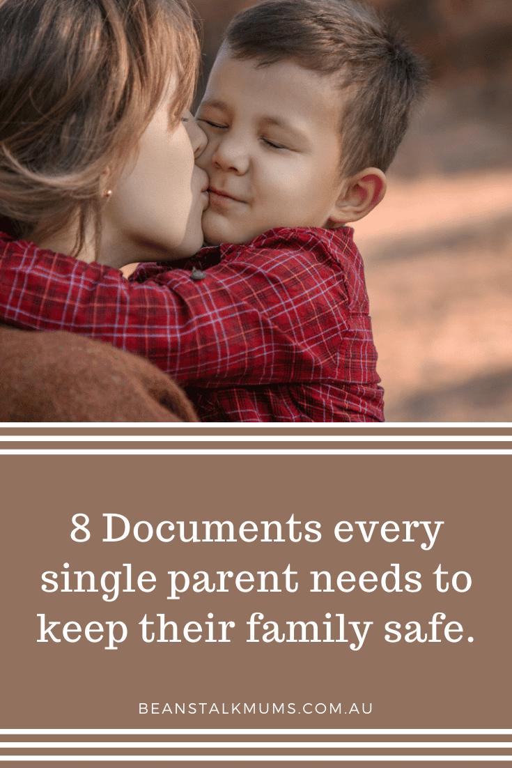 Documents every single parent needs | Beanstalk Single Mums Pinterest